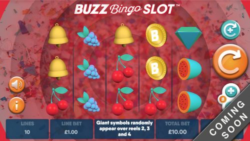 Buzz bingo buzz sloy giant giant symbols mutuel play mutuel play bell melon buzzer cherry strawberry coin free free spin free spins big win mega win ultra win win