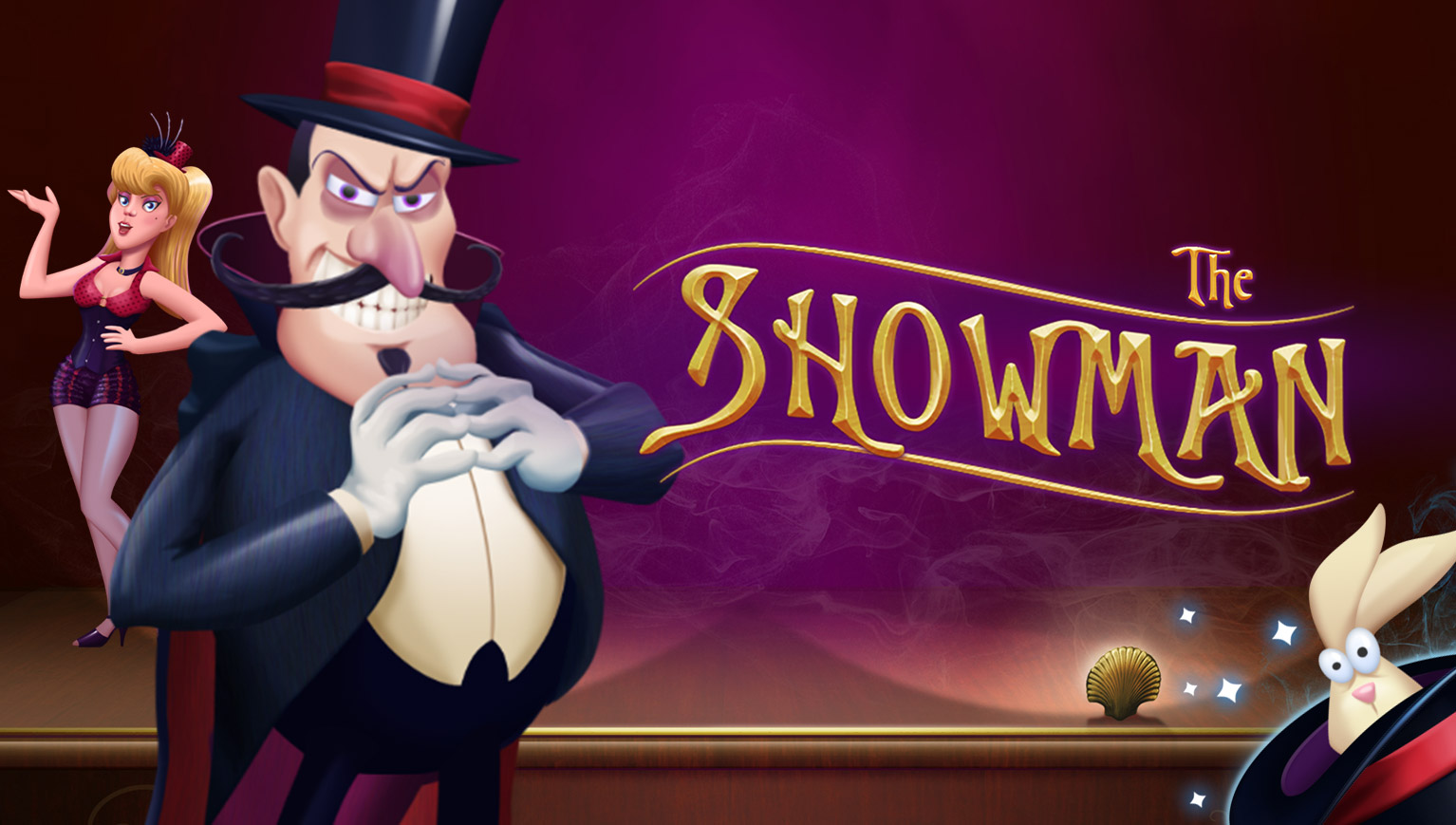 the showman slot magician magic hat cards rabbit hat guillotine handcuffs