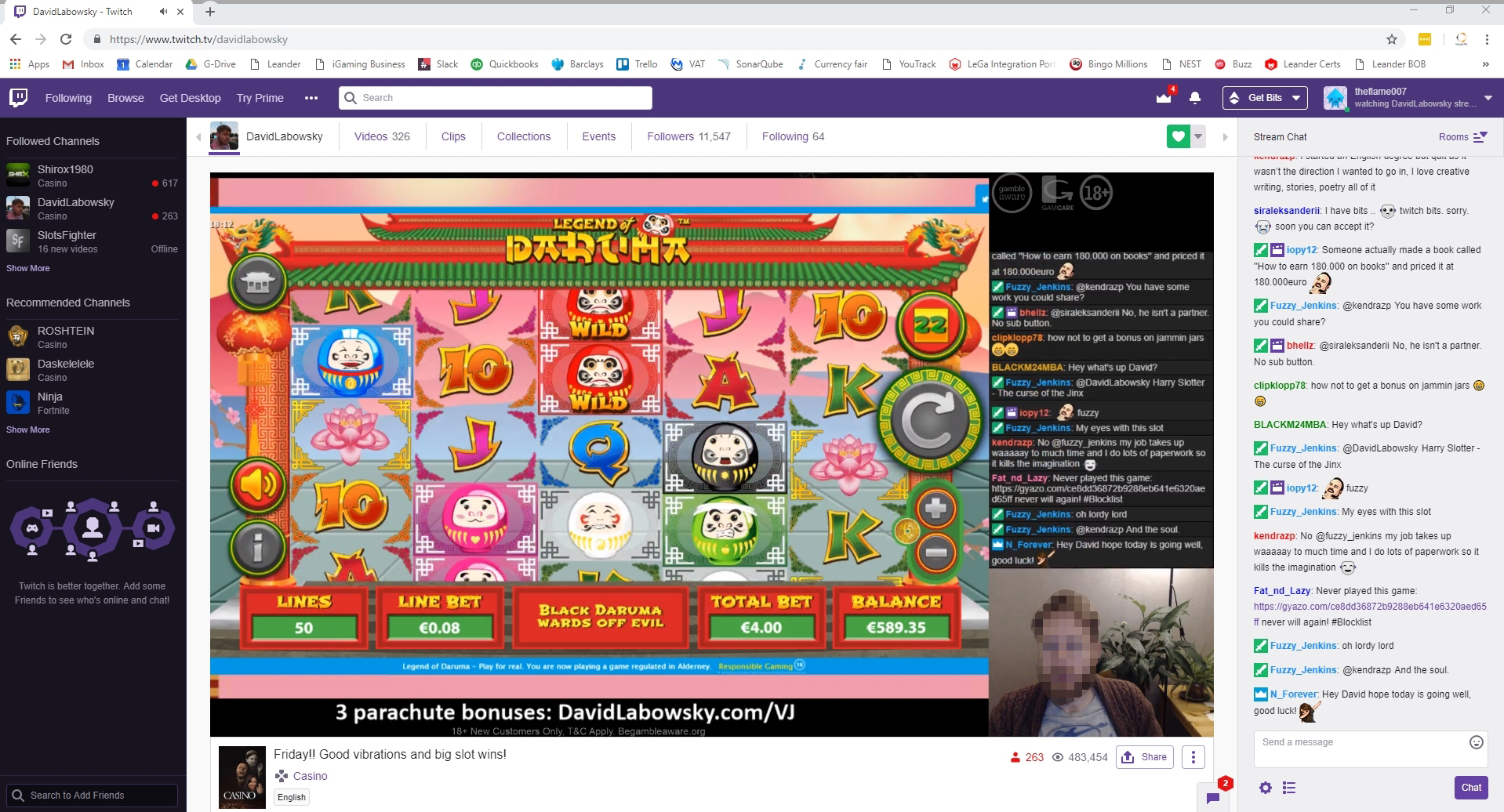 twitch TV slot game asian fun daruma