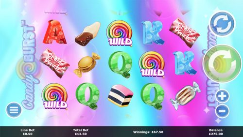 candy burst slot game fun sweets exciting