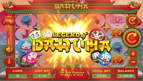 daruma legend fan coin lotus flower dragon royal asian game slot